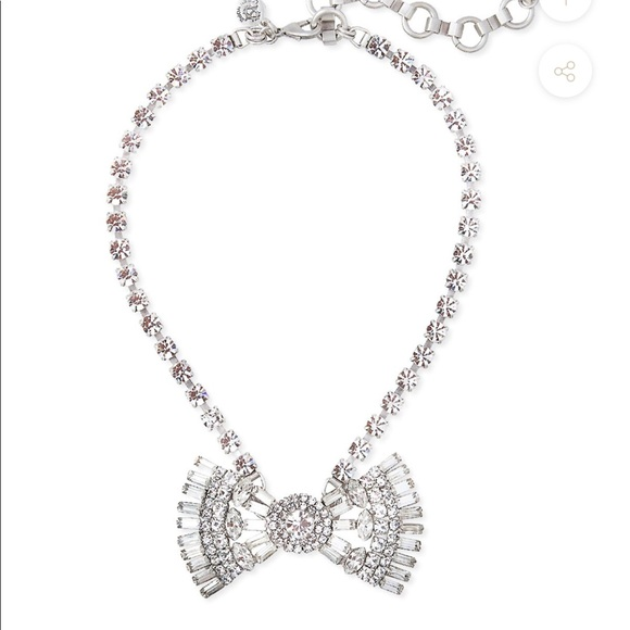 789dc1d60ff50 Crystal Bow tie necklace